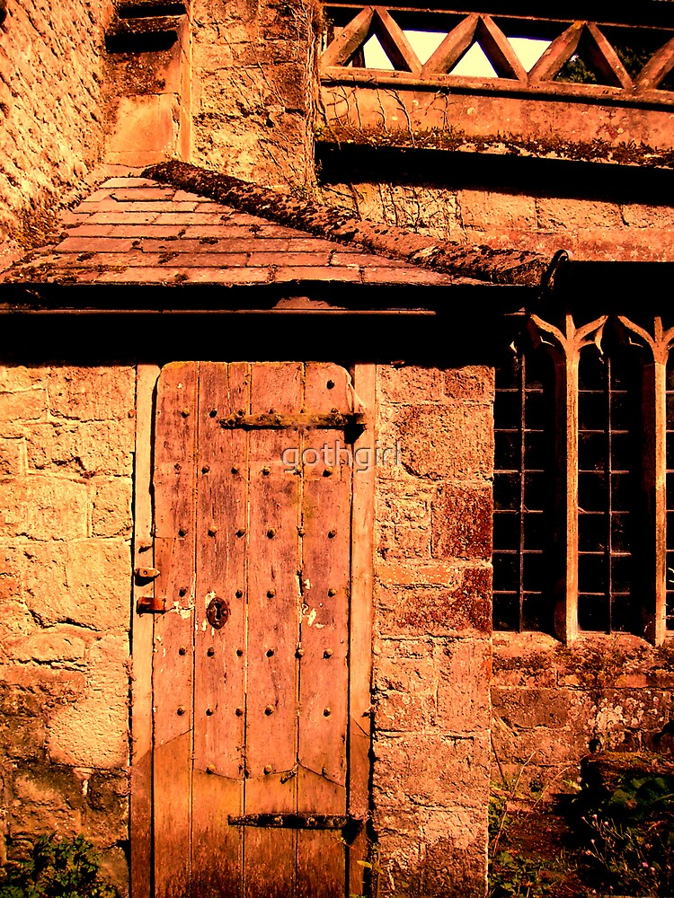 Old church door and window by gothgirl