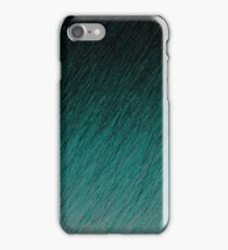 Cyan Falling through Night iPhone Case/Skin