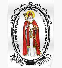 Saint Nicholas Patron of Christmas Poster