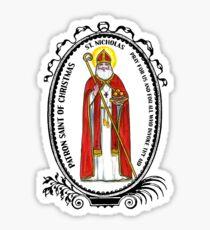 Saint Nicholas Patron of Christmas Sticker