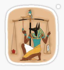 Anubis weighing the heart Sticker