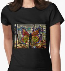 BUTTERFLY OF MANY COLORS Womens Fitted T-Shirt