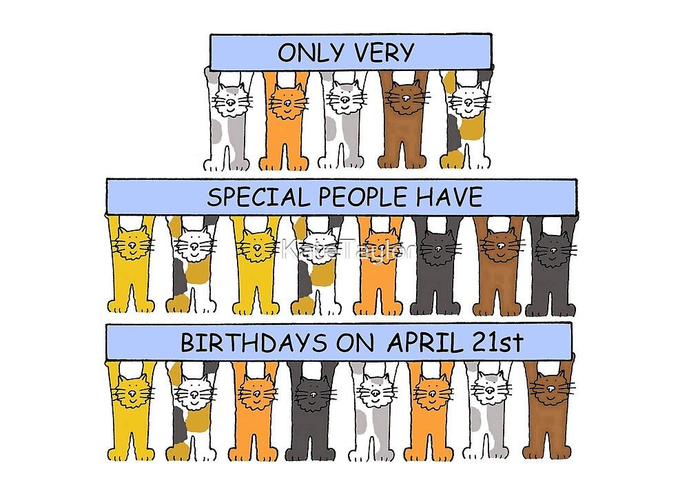 April 21st Birthday Cats. by KateTaylor