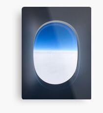 Fenster zur Welt Metalldruck