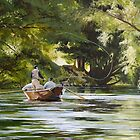 "Original oil painting: ""Reel Life"" - Tumut, NSW, Australia by Martin Lomé"