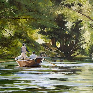 "Original oil painting: ""Reel Life"" - Tumut, NSW, Australia by MartinLome"