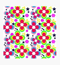 Bright abstract floral pattern. Photographic Print