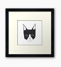 Henry the Tuxedo Cat Framed Print