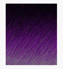 Purple Falling through the Night Photographic Print