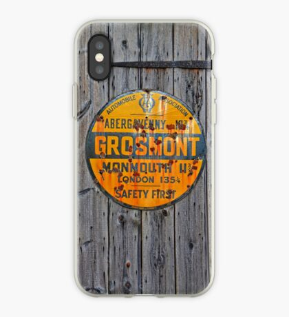 Grosmont - AA Abergavenny, old Enameled sign, Wales, Monmouthshire  iPhone Case