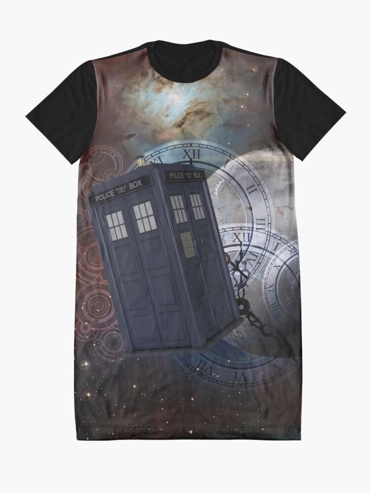 Alternate view of Time Flight 2 Graphic T-Shirt Dress