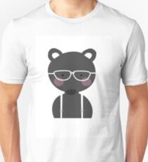 Osito blanco y negro Unisex T-Shirt