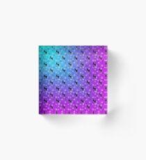 Black Unicorn Pattern (Blue & Pink) Acrylic Block