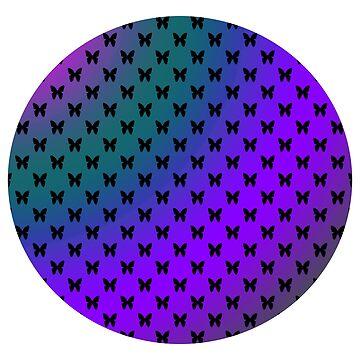 Summer Butterflies Purple by blakcirclegirl