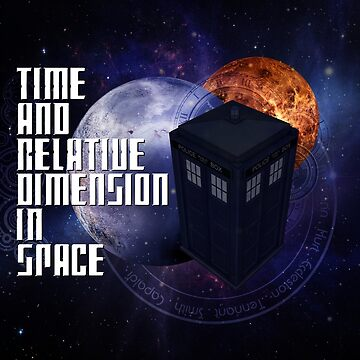 Time And Relative Dimension In Space by Funky-Designs
