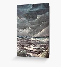 purple ocean Greeting Card