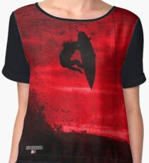 Surfer X - Big Kahuna Red Chiffon Top