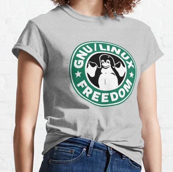 GNU Linux Freedom Green Classic T-Shirt