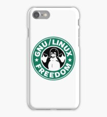 GNU Linux Freedom Green iPhone Case/Skin