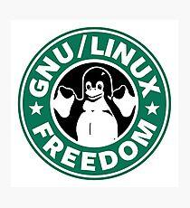 GNU Linux Freedom Green Photographic Print