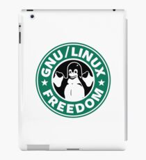 GNU Linux Freedom Green iPad Case/Skin