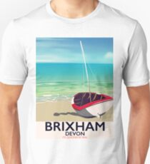 Brixham beach Devon vintage travel poster Unisex T-Shirt