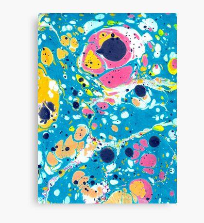 Ebru Marbling - Summer Vibes Canvas Print