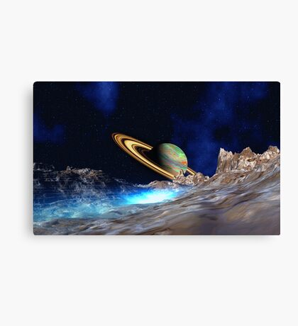 Saturn View - from Titan Canvas Print
