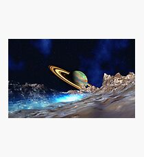 Saturn View - from Titan Photographic Print
