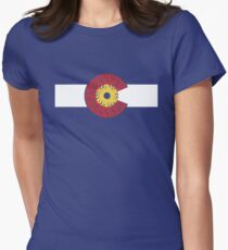 Ride Colorado (Bicycle Cassette) Womens Fitted T-Shirt
