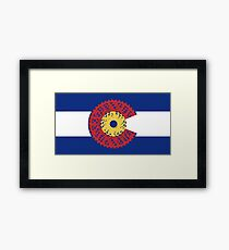 Ride Colorado (Bicycle Cassette) Framed Print