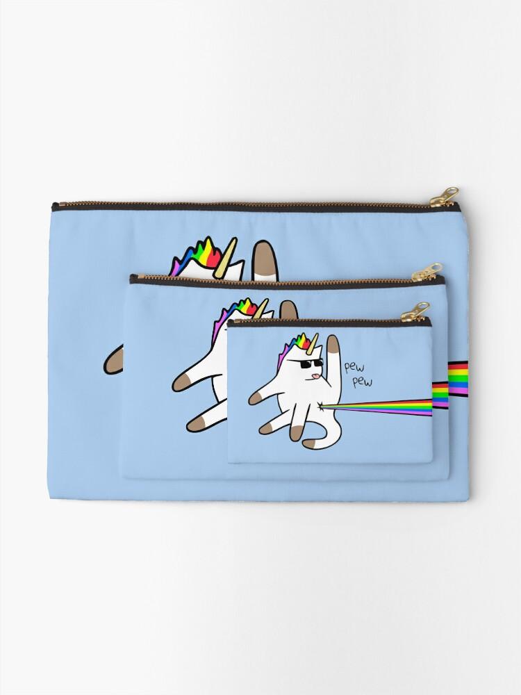 Vista alternativa de Bolsos de mano Unicorn Cat Rainbow Butt Laser