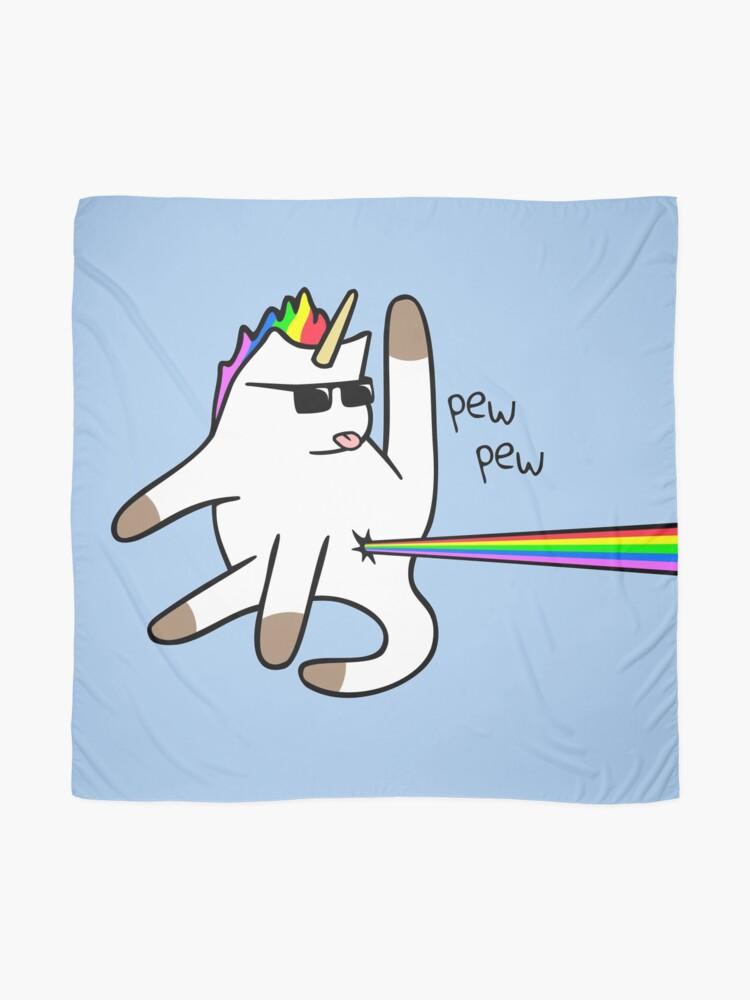 Vista alternativa de Pañuelo Unicorn Cat Rainbow Butt Laser