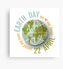 We love our planet. Canvas Print