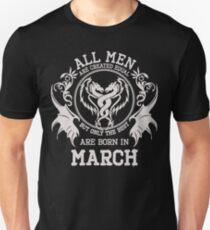 Born in March. Birthday T-Shirt. T-Shirt