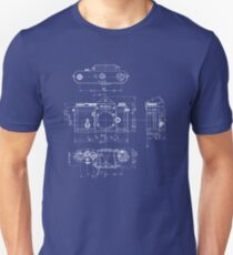 Nikon F Blueprint Vintage Classic Camera Unisex T-Shirt
