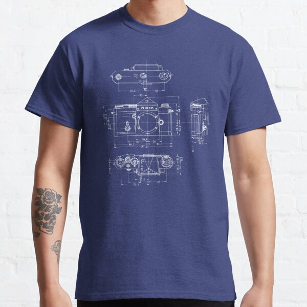 Nikon F Blueprint Vintage Classic Camera Classic T-Shirt