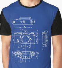 Nikon F Blueprint Vintage Classic Camera Graphic T-Shirt