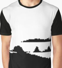 Black and white game-like mountains Graphic T-Shirt
