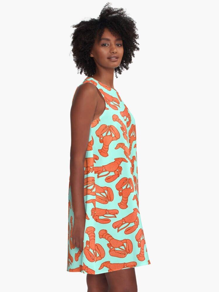 Alternate view of Lobster Addiction A-Line Dress