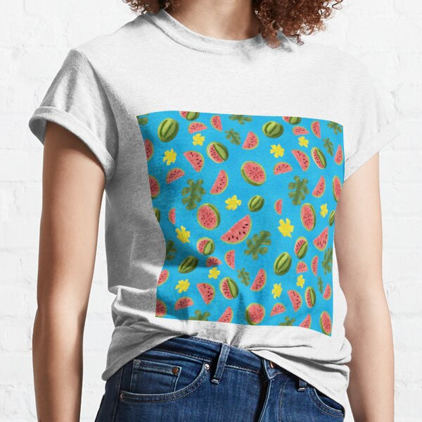 Summer Watermelon Pattern Classic T-Shirt