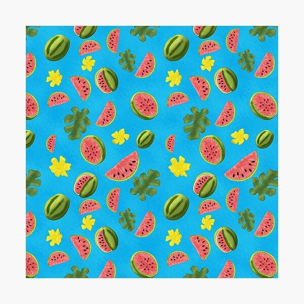 Summer Watermelon Pattern Photographic Print
