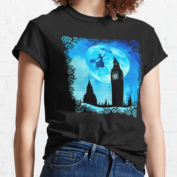 Magical Watercolor Night - Mary Poppins Classic T-Shirt