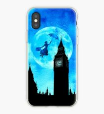 Magical Watercolor Night - Mary Poppins iPhone Case