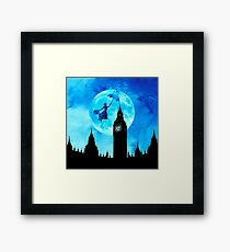 Magical Watercolor Night - Mary Poppins Framed Print