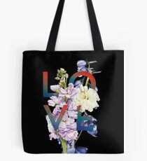 3D Modern Realistic Flower Collage Tote Bag