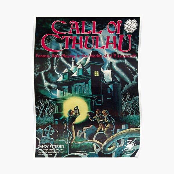 Couverture de Call of Cthulhu 1st Edition Poster