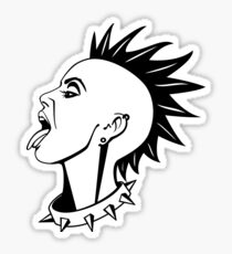 Punk girl Sticker
