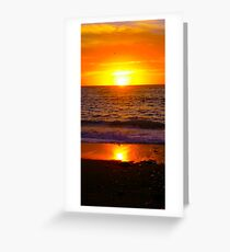 sunset over Los Muertos beach, PV Mexico Greeting Card