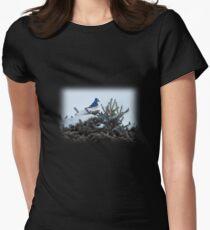 Bluebird & Fir Tree Womens Fitted T-Shirt